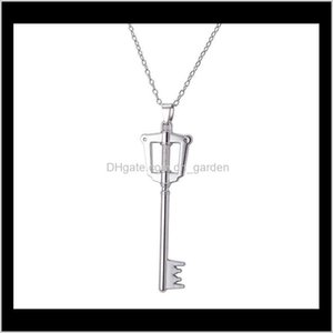 Wholesale chritsmas gifts for sale - Group buy Pendant Delivery Kingdom Hearts Sora Key Necklaces Sier Pendants Women Men Chritsmas Gift Fashion Jewelry Drop Ship Zs70V