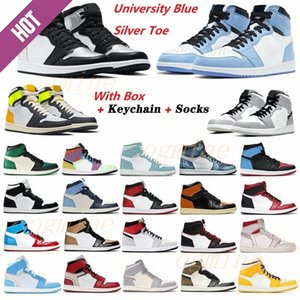 ayak parmağı toptan satış-with box air jordan jordans aj1 s jordon jordons men women fearless chicago obsidian mocha satin retro shoes s low mens Jumpman basketball court grey t1 dh
