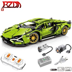 Wholesale toy bricks car resale online - BZDA RC Car Speed Champion Building Blocks MOC RC Car Model Bricks Birthday Gifts For Kids Toys Boys