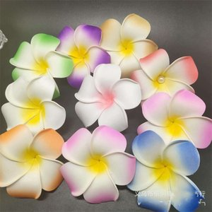 Wholesale flowers plumeria for sale - Group buy 100pcs cm Plumeria Hawaiian Foam Frangipani Flower For Wedding Party Hair Clip Flower jlloiM lucky S2