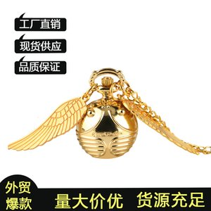 Wholesale watch snitch resale online - New Harry Potter snitch ball Quartz Pocket Watch with big wings4RSR