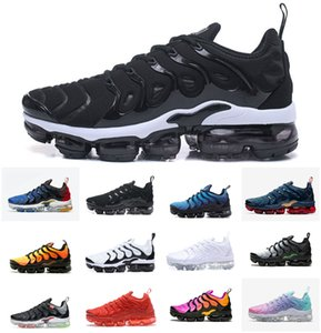 Wholesale ultra violet resale online - Mens Air Vapores Plus Triple Black White Running Shoes Tn Ultra Tropical Twist Womens Sneakers Tns OG Metallic Silver Hyper Violet Utility Blue Orange trainers