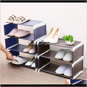 Wholesale large size designer shoes for sale - Group buy Storage Holders Racks Layers Nonwoven Shoe Rack Large Size Living Room Fabric Dustproof Cabinet Organizer Holder Diy Foldable Stand Abus1