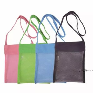 Wholesale bag kids tote children resale online - Mesh Bag Tote Beach Storage Shell NetBag Girls Handbags Color Children Kids Sand Object Collect Toys StorageBags EWA4735