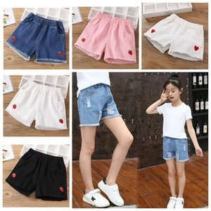 Wholesale washing baby clothes resale online - Baby Girl Summer Clothing Kids Cartoon Washed Soft Jeans Beautiful Princess Clothes Children s Denim Shorts Years