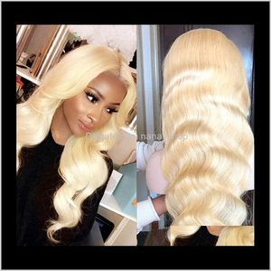 Wholesale platinum color wigs for sale - Group buy Products Drop Delivery Platinum Human Wig Color Malaysian Remy Glueless Front Wigs With Baby Hair For Black Women Blonde T Part Swis