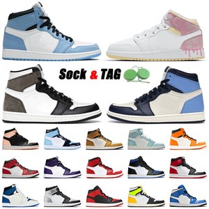 Wholesale floor paintings resale online - Top Jumpman s Basketball Shoes Univrtdiyy Blue Paint Drip Mens Women High Obsidian Dark Mocha UNC Patent Twist Trainers Sneakers