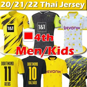 Dortmund 4th HAALAND REUS HAZARD 20 21 Fans Player Version soccer jerseys balr SANCHO 110th MEN Kids Kits football shirts training uniforms Thai