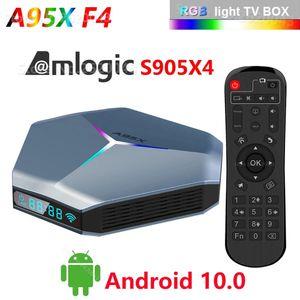 A95X F4 Amlogic S905X4 Smart Android 10 TV Box 4K HD YouTube 4GB RAM 32GB ROM 2.4G 5Ghz Wifi RGB Light Set Top Box