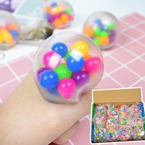 Wholesale toys for sale - Group buy decompression balloon toy Sensory Fingers toys cm color bead ball TPR rubber kneading Autism Anxiety Stress Reliever SALE H33HRJ7