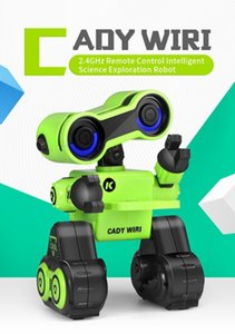 Wholesale usb powered toys resale online - Virhuck JJRC R13 YW CADY WIRI Power Robot Intelligent Science Exploration Toy Gift Green