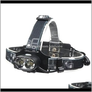Wholesale headlamp dual for sale - Group buy Headlamps And Hiking Sports Outdoors Drop Delivery Led Dual T6 Usb Charging Portable Light Headlights Gear Fishing Miners Lamp Campi