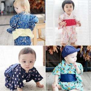 Wholesale retro baby clothes for sale - Group buy Baby Clothes Japanese Kimono Girl Printing Summer Cute Retro Yukata Jumpsuit Korean Fashion Children Party Jumpsuits