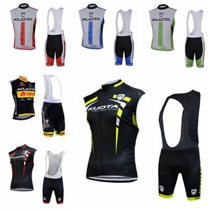 kuota großhandel-Kuota Team Custom Made Cycling Sleeveless Jersey Weste BIB Shorts Sets Komfortables Schnelltrockner MTB Outdoor Sports Jersey Sets