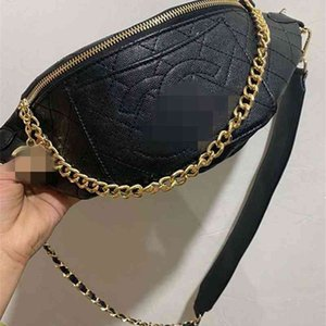 Wholesale chain strap designer bag resale online - 70 OFF Xiaoxiangfeng Lingge embroidery waist fashion simple temperament large capacity shoulder strap messenger women s chain bag JESR category