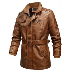 Wholesale motorcycle jacks for sale - Group buy Warm men jackets new winter PU leather coats for men cloning casual motorcycle Faux Leather Jack piece