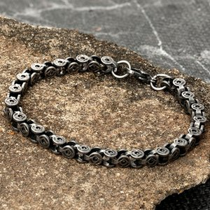 Wholesale byzantine stainless steel bracelet for sale - Group buy Bracelet Men s Vintage Oxidized Stainless Steel Jewelry Byzantine Curb Cuban Link Chain Punk Bracelets Christmas