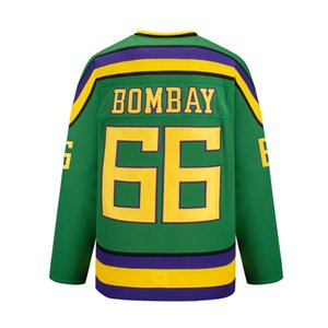 Wholesale throwback mighty duck jerseys resale online - mighty ducks hockey movie throwback jersey bombay Sweatshirts green white custom Sports Outdoor multi color fast embroidered pucks stitched