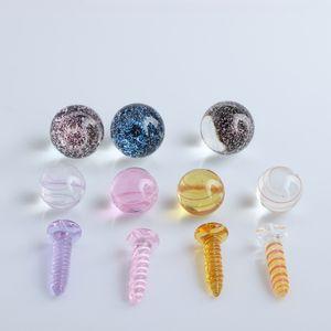 Smoking Accessories Dihcro Beads& Terp Screw Set 20mm 14mm 22mm 25mm Glass Pearls Suit For Terp Slurper Quartz Banger