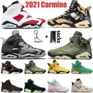 Top Quality Jumpman 6 6s Mens Women Basketball Shoes 2021 Carmine Travis Cactus Jack Quai 54 Smoke Grey Black Infrared Trainers Sneakers 36-47