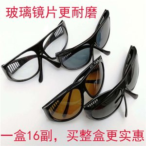Wholesale lenses electric for sale - Group buy eyeglasses Glass lens goggles labor protection welder electric welding grinding glasses
