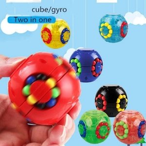 DHL Ship Colorful Magic Cube Little Magic Bean Rotating Cube Kids Stress Relief Toy For Adults kids Plastic Mini Cube