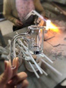 Quartz Banger Nail smoking Super High Quailty Fully Weld Thick Bottom Bigger tube Domeless Bangers Nails Glass Bong
