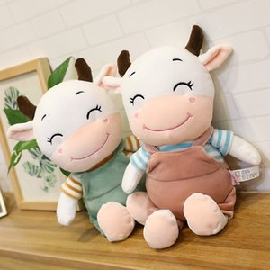 Wholesale smiley face plush toy for sale - Group buy Dolls Year of the Ox Plush Cute Smiley Face Strap Cow Doll Creative Children s Toys