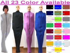 Sexy Women Men Mummy Costumes Sleeping Bag With Internal Arm Sleeves Unisex 23 Color Lycra Spandex Body Bags Sleepsacks Catsuit Costume Halloween Cosplay Suit M326