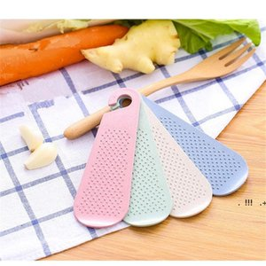 Wholesale kitchen tools for sale - Group buy Manual Wheat Straw Ginger Garlic Grater Wasabi Grinding Plate Garlic Presses Tools Kitchen Gadgets Accessories Food EWF6531