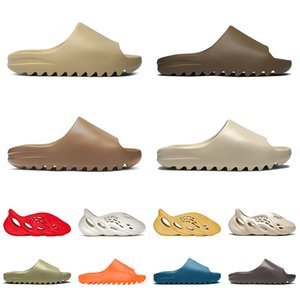 Wholesale men slippers for sale - Group buy slide men women desert sand earth brown slipper pure bone resin foam runner white black slippers