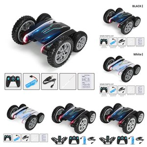 Wholesale transform toy for sale - Group buy Outdoor Leisure Sports Games Rotating stunt car double sided charging remote control Transforming tipping bucket children s toy