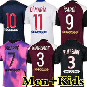 psgjersey Maillots de football kits 20 21 soccer jerseys 4TH 2020 2021 MBAPPE ICARDI NEYMAR shirt JR men kids sets maillot foot hommes enfants