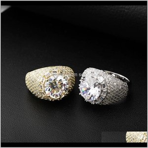 Wholesale solid gold diamond ring for sale - Group buy Solitaire Rings Drop Delivery Pnce Solid Jewelry Oval Cut Synthetic Moissanite Diamond K Real Gold Sier Ring For Men Women Hip Hop Fza