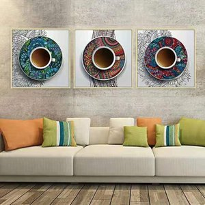 Wholesale restaurant abstract paintings resale online - Living Room Background Wall Decoration Painting Abstract Retro Restaurant Mural Modern Nordic Bedroom Poster Oil Paintings OH8L