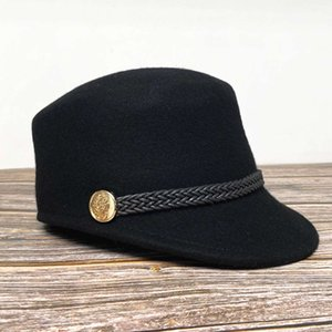 Wholesale top hat shop resale online - cap wax rope knitting decorative flat top women s equestrian baseball hat autumn and winter fashion shopping cap