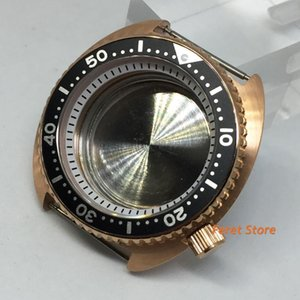 Wholesale white gold black sapphire ring resale online - Goutent mm Rose Gold Watch Case Black Alloy Bezel Insert White Chapter Ring Sapphire Glass Fit NH35 NH36 Movement Repair Tools Kits