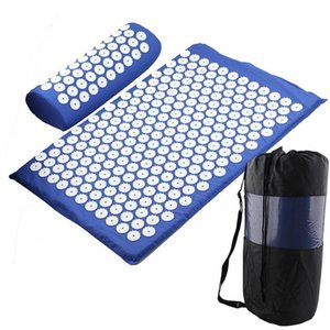 Wholesale back pain band resale online - Yoga Acupressure Mat Back Body Relieve Stress Tension Abs Spike Acupressure Massage Relaxation Pain Pad Mat sqceYh home2006