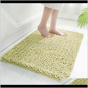 Wholesale doormats resale online - Aessories Home Garden Drop Delivery Pure Chenille Bathroom Carpet Bath Mats Anti Skid Washable Doormat For Shower Room Bathtub Side To