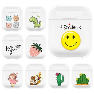 drahtloser tragbarer drucker großhandel-Crystal Clear Unique Print Design Portable Stoßdicht Hard Case für Airpods Pro Wireless Ladebox Nette Cartoon Mädchen Frauen Kopfhörer Zubehör