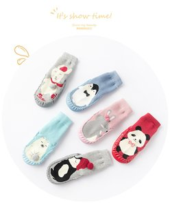 Wholesale dermis resale online - Thickening Cotton Bottom Floor Socks Baby Kids Dermis Non Slip Soft Sole Shoes Toddler First Walker Accessory xz M2