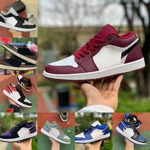 luz tropical al por mayor-Air Jordan retro jordans Nike Alta Calidad Manos Zapatillas de baloncesto Bajo Luz Tropical Travis UNC Paris Noble Rojo Negro Black Ember Blow Bred Toe
