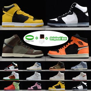 deri kırmızı bilezikler toptan satış-Bilezik Çorap Orijinal Kutusu SB Dunk High Strawberry Cough Strawberry Cough Paul Rodriguez Invert Celtics Varsity Maize casual sports skateboard shoes