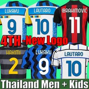 Inter soccer jersey 2020 2021 2022 fourth 4th milan LUKAKU LAUTARO ERIKSEN BARELLA 20 21 22 AC milan IBRAHIMOVIC THEO MANDZUKIC football shirt kids set TONALI BRAHIM
