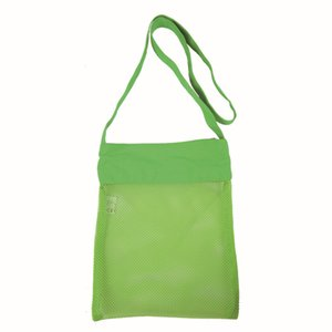Wholesale designer girl bags resale online - Mesh Bag Tote Beach Storage Shell NetBag Girls Handbags Color Children Kids Sand Object Collect Toys StorageBags GGA4735