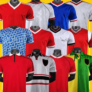 ingrosso shirts calcio manchester-Manchester Retro Soccer Jerseys Man Utd United Football Shirt Stagione