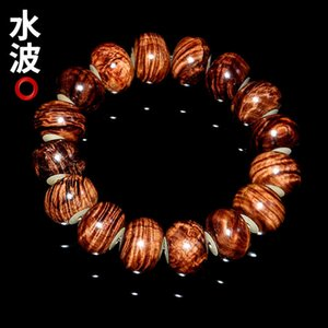 Wholesale inlay jewelry china resale online - Inlaid Vietnam Bone Stationery Jewelry Men s Red Sandalwood Willow Abacus Beads Bracelet