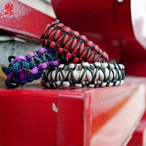 Wholesale birthday gift gadgets resale online - Wilderness Survival Outdoor Bracelet Core Super Durable Paracord Trendy Color Matching Boyfriend Birthday Gift Gadgets