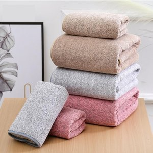 Wholesale bamboo microfiber towel resale online - Towel Sets Coraline Microfiber Absorbent Soft Bath For Adults Bathroom Velvet Bamboo Cleaning Bathrobe Dress Big Towels