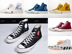 ingrosso le scarpe dei martinetti-Converse shoes The Chuck White Black Shoes s Mens One Chuck Casual Canvas Scarpe per skate womens sneakers formatori chaussures